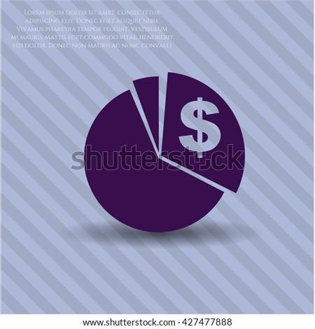 chart icon vector symbol flat eps jpg app web concept website