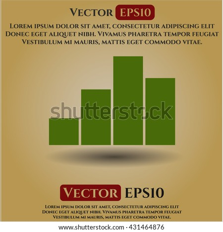 chart icon vector symbol flat eps jpg app web concept website