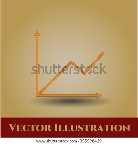 Chart vector icon