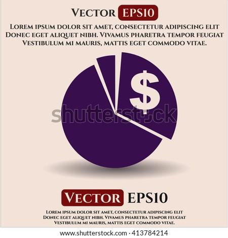 Chart vector icon
