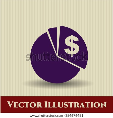 Chart vector icon or symbol