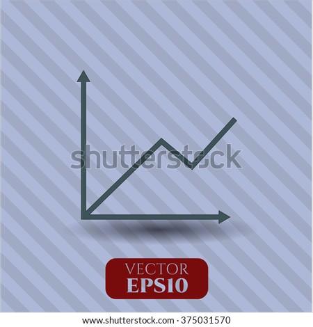 Chart vector symbol