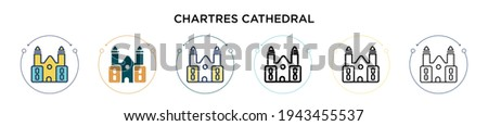 chartres cathedral icon in