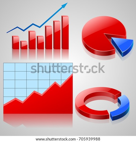 Charts and Graphs Collection, Business statistics. Vector illustration