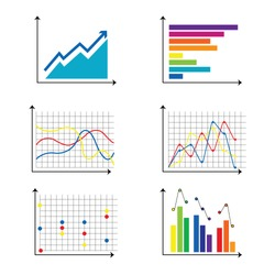 Charts and graphs on the White Blackground