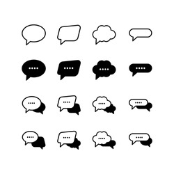 Chat and Speech Bubble icon set vector illustration logo template for many purpose. Isolated on white background.