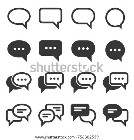chat and speech bubble iicons