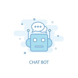 Chat Bot concept trendy icon. Simple line, colored illustration. Chat Bot concept symbol flat design from Artificial Intelligence  set. Can be used for UI/UX