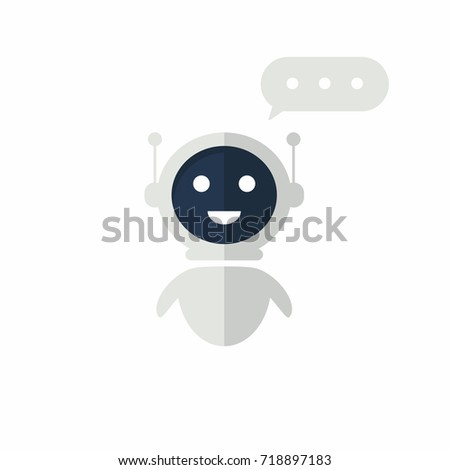Chat bot icon with speech bubble. Virtual assistant for website. Chat bot concept for customer service. Vector