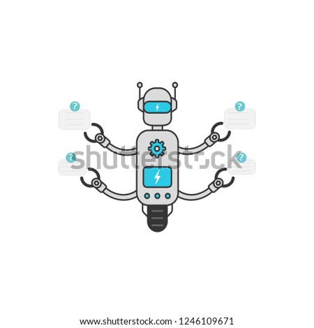 chat bot isolated on  silver