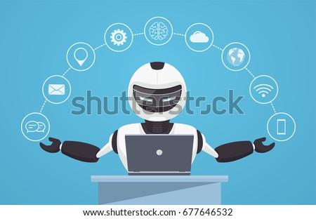 chat bot  robot virtual