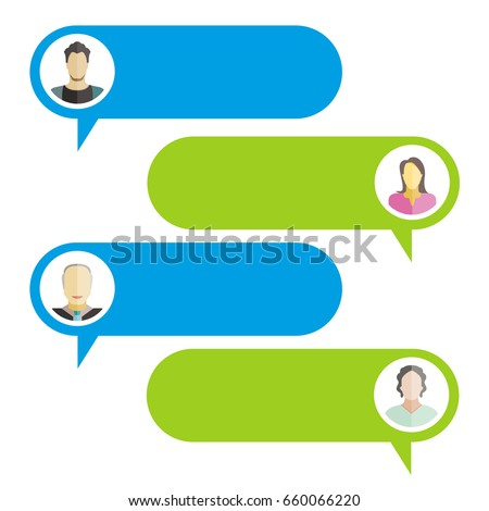 chat bubble, chat dialog on white background