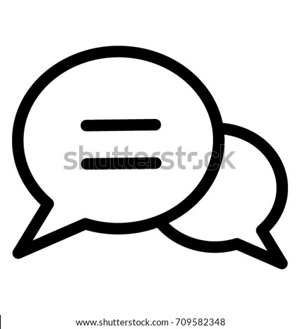 Chat Bubble Line Vector Icon
