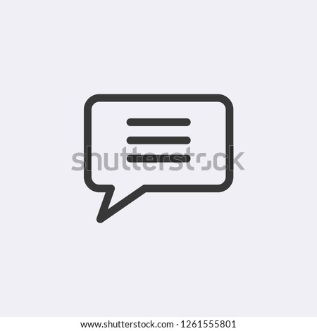 Chat Bubble Modern Simple Vector Icon