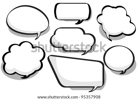 Chat Bubbles - Chat bubbles in a variety of circular, bubble and rectangular styles