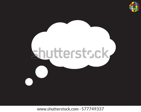 chat cloud icon  vector
