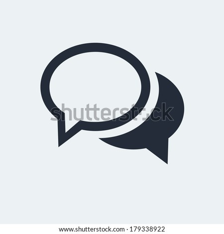 chat flat icon with shadow