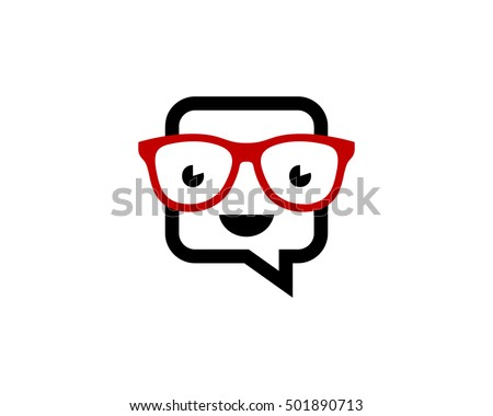 Chat Geek Logo Design Template