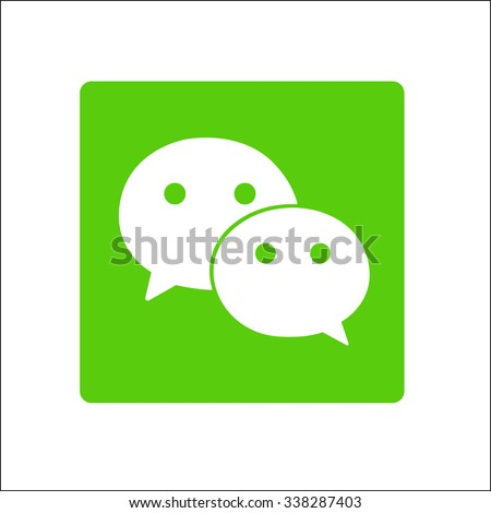 Chat icon button isolate