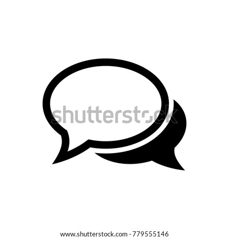 chat icon, chat logo template