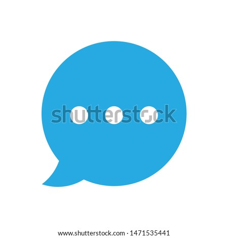 chat icon. flat illustration of chat - vector icon. chat sign symbol