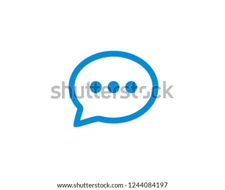 Chat Icon flat symbol vector. symbol for web site Computer and mobile vector.