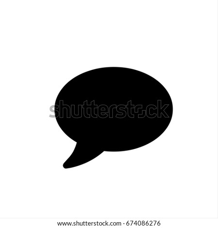 Chat icon in trendy flat style isolated on background. Chat icon page symbol for your web site design Chat icon logo, app, UI. Home Chat icon illustration, EPS10.