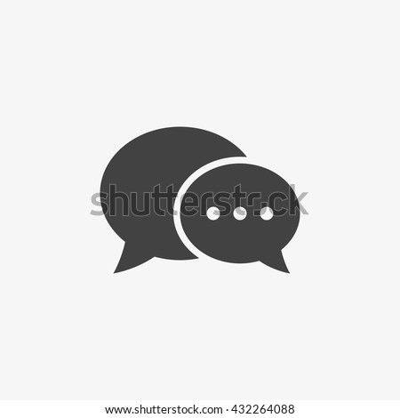 chat icon in trendy flat style