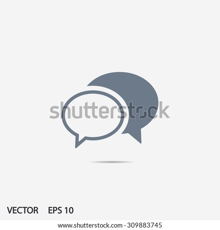 Chat  icon. One of set web icons
