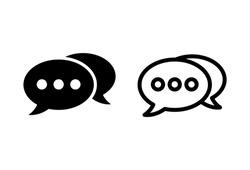 Chat icon set. speech bubble icons. comment icon vectors. message. contact us