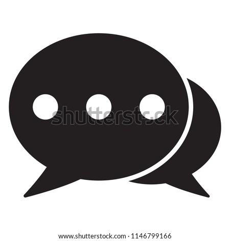 Chat icon, sms icon, comments icon, speech bubbles Icon vector flat design