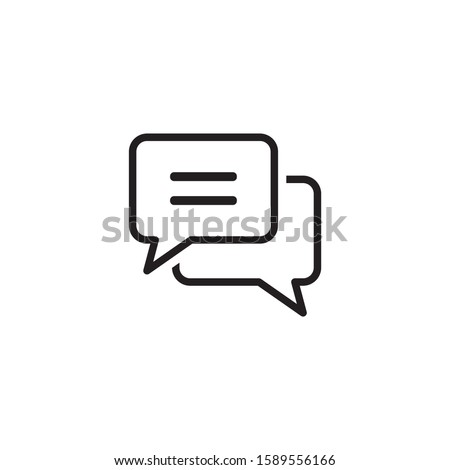 Chat icon symbol vector illustration Stock photo ©