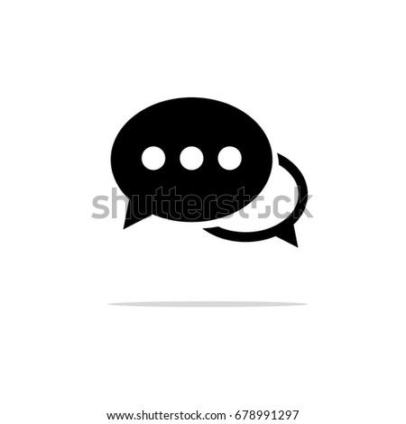 Chat icon. Texting symbol. Flat design. Vector Illustration.