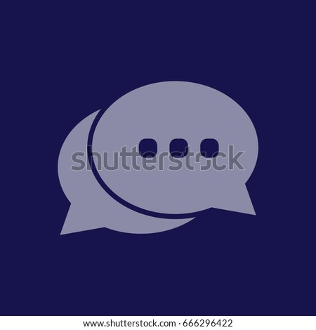 Chat icon vector. Blue icon