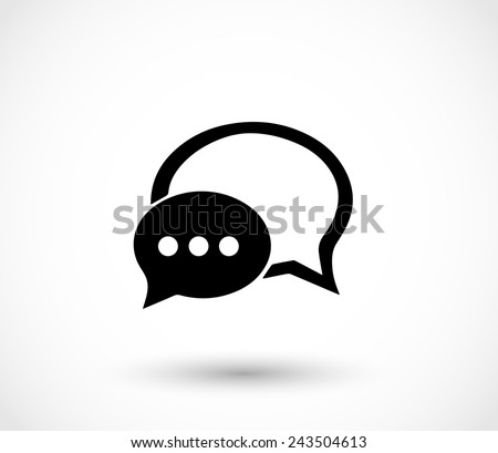 Chat icon with dialog clouds vector