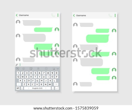 Chat interface on smartphone. The interface of the correspondence.