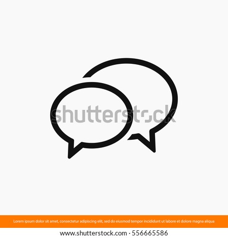 Chat, linear icon. One of a set of linear web icons