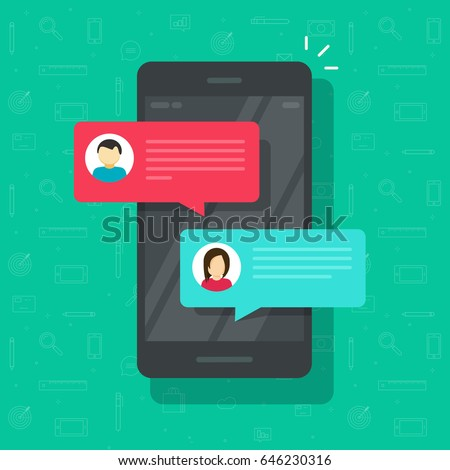 chat messages notification on