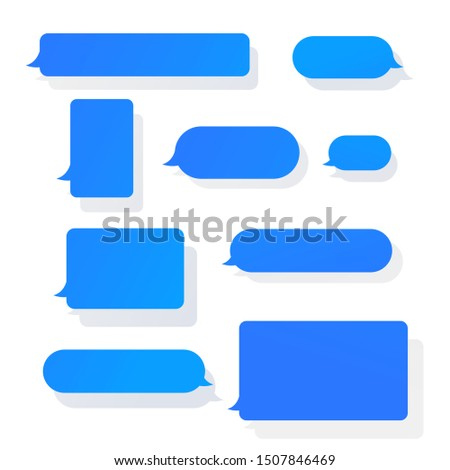 Chat messages notification vector illustration. Smart Phone chatting sms template bubbles.