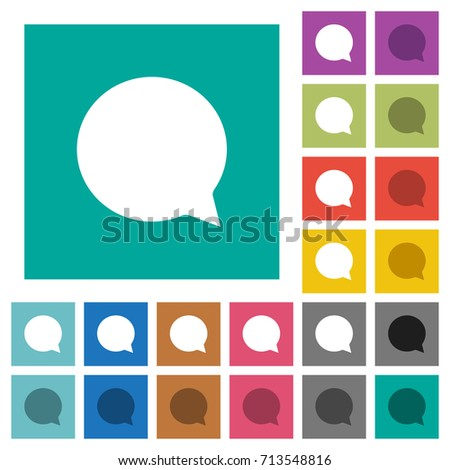chat multi colored flat icons