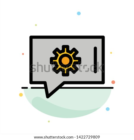 Chat Preferences, Chat Setting, Chat Support Abstract Flat Color Icon Template