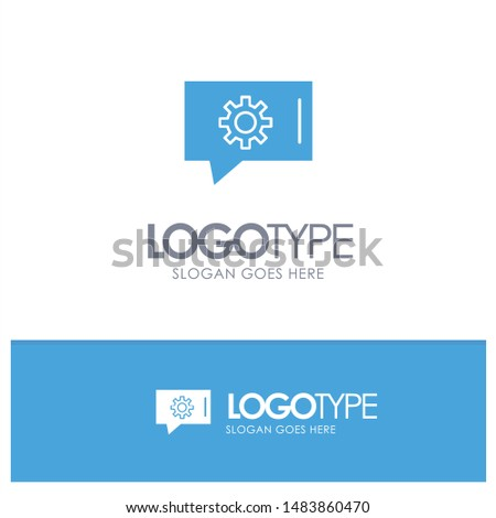 Chat Preferences, Chat Setting, Chat Support Blue Solid Logo with place for tagline
