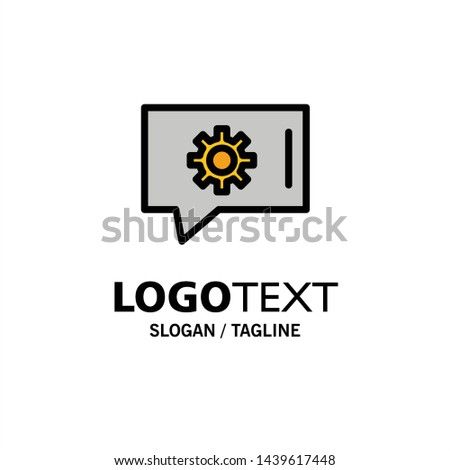 Chat Preferences, Chat Setting, Chat Support Business Logo Template. Flat Color