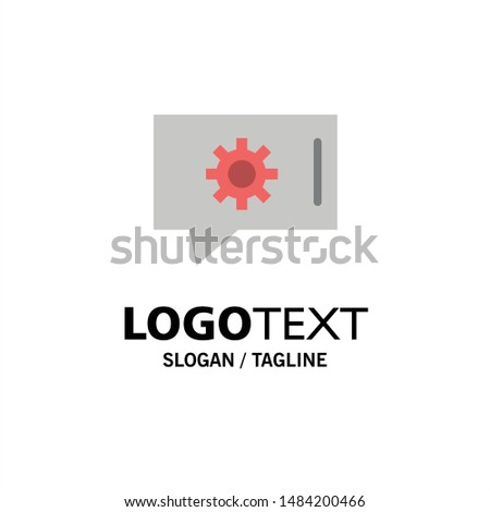 Chat Preferences, Chat Setting, Chat Support Business Logo Template. Flat Color. Vector Icon Template background