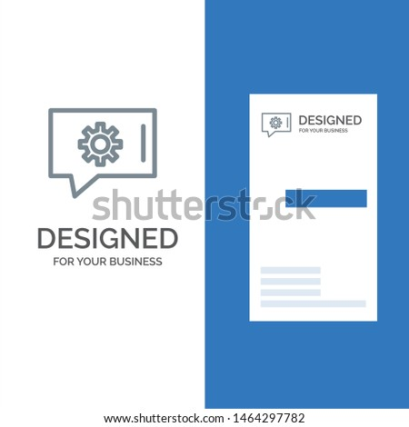 Chat Preferences, Chat Setting, Chat Support Grey Logo Design and Business Card Template. Vector Icon Template background