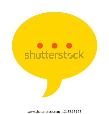 Chat sign icon. Speech bubble symbol. Communication chat button. speech bubble icon - communication symbol