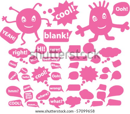 chat signs. vector - stock vector