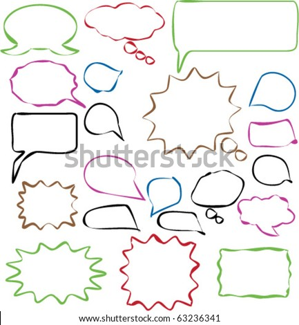 chat signs vector