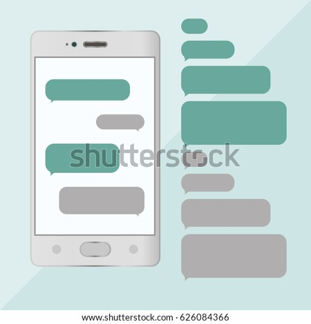Chat smartphone, bubble chat, messages, sms. Vector