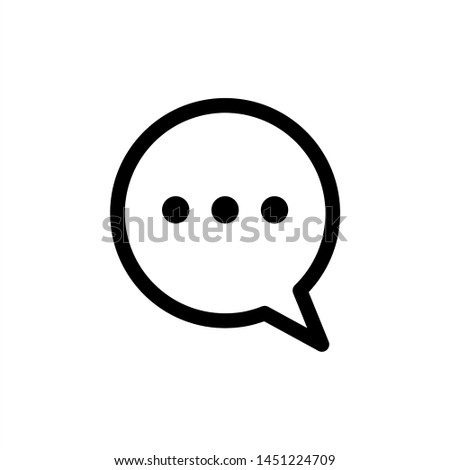 Chat Speech Bubble icon. symbol of comment or message with trendy flat line style icon for web site design, logo, app, UI isolated on white background. vector illustration eps 10